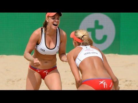 Zumkehr/Heidrich (SUI) vs. Forrer/Vergé-Dépré (SUI) - Den Haag - Women - World Championships 2015