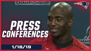 AFC Championship Week Press Conferences: Brady, White, Andrews & D. McCourty