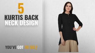 Top 10 Kurtis Back Neck Design 2018 Pistaa Black Solid High Low Hem Short Kurti with Plus Size