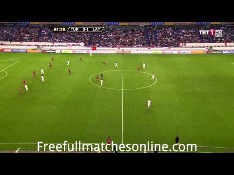 Turkey vs Latvia 2 half full match HD 28/05/2013