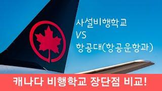 캐나다 파일럿 교육비교! 사설비행학교 VS. 항공운항과…