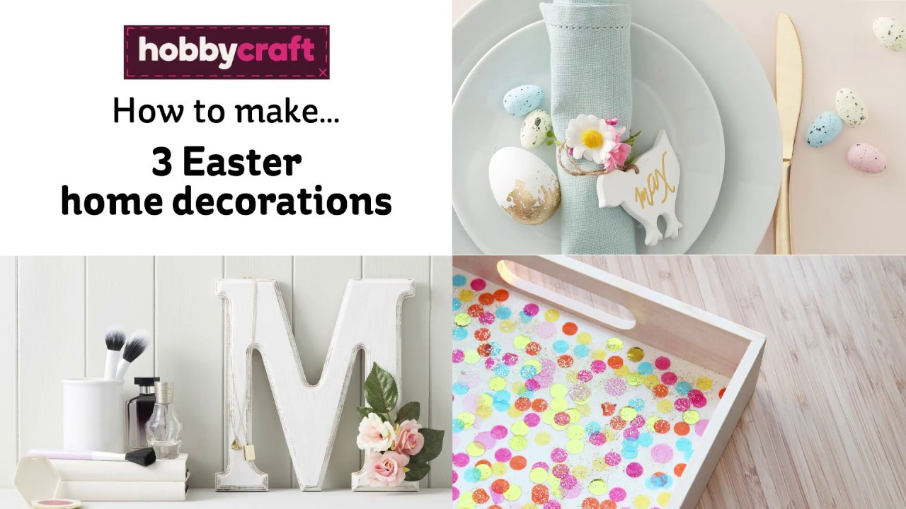 How to make easter decorations hobbycraft youtube how to make easter decorations hobbycraft negle Images