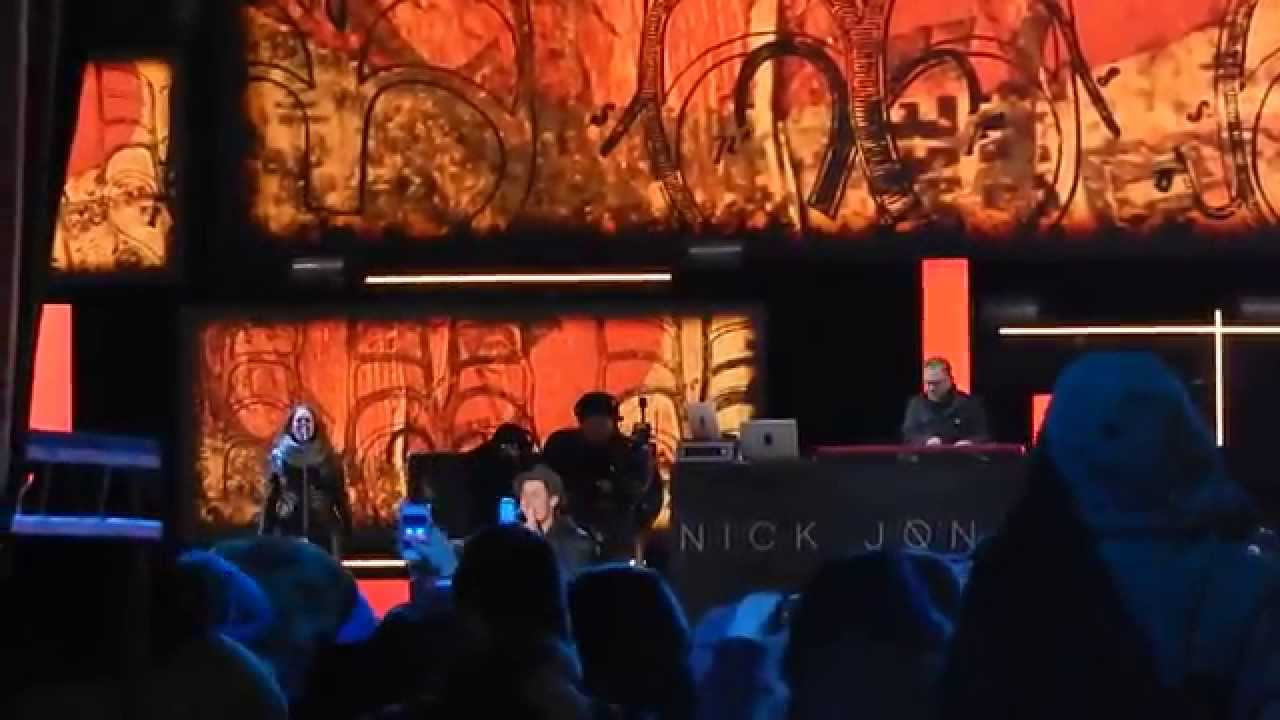 Nick Jonas at Niagara Falls on New years Eve performing ...