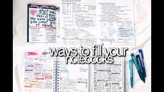 Ways To Fill Your Notebooks || revisign