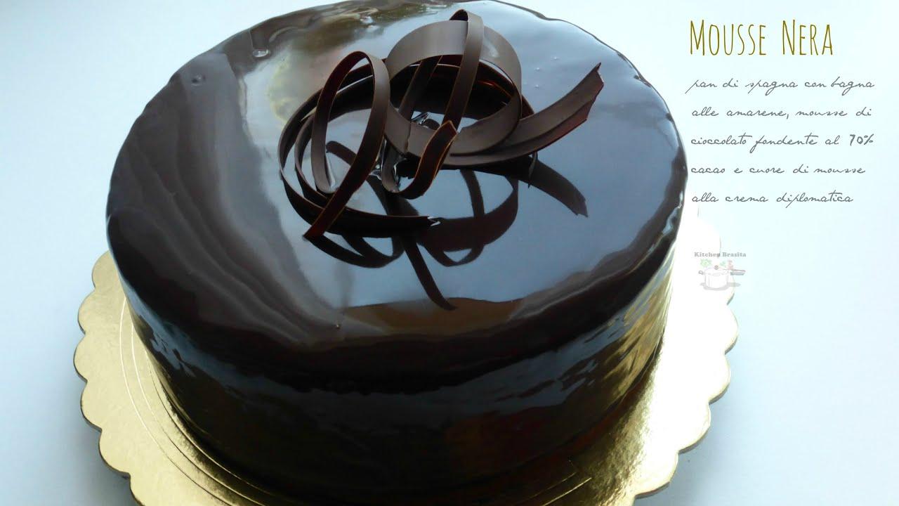 Glassa a specchio cioccolato fondente come glassare una torta ricette di gabri youtube - Glassa a specchio knam ...