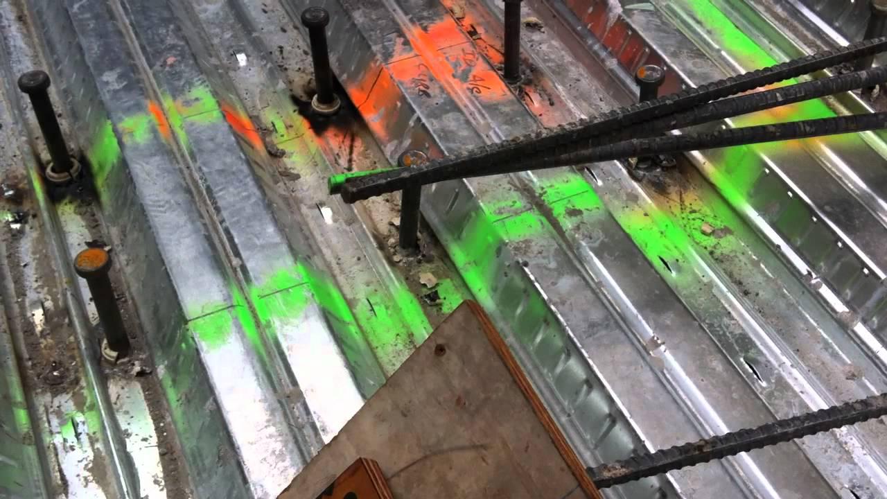 Steel Decking Work Youtube