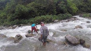FISHING IN NEPAL   DUWALI FISHING   FISHING IN SMALL RIVER   NATURAL FISHING