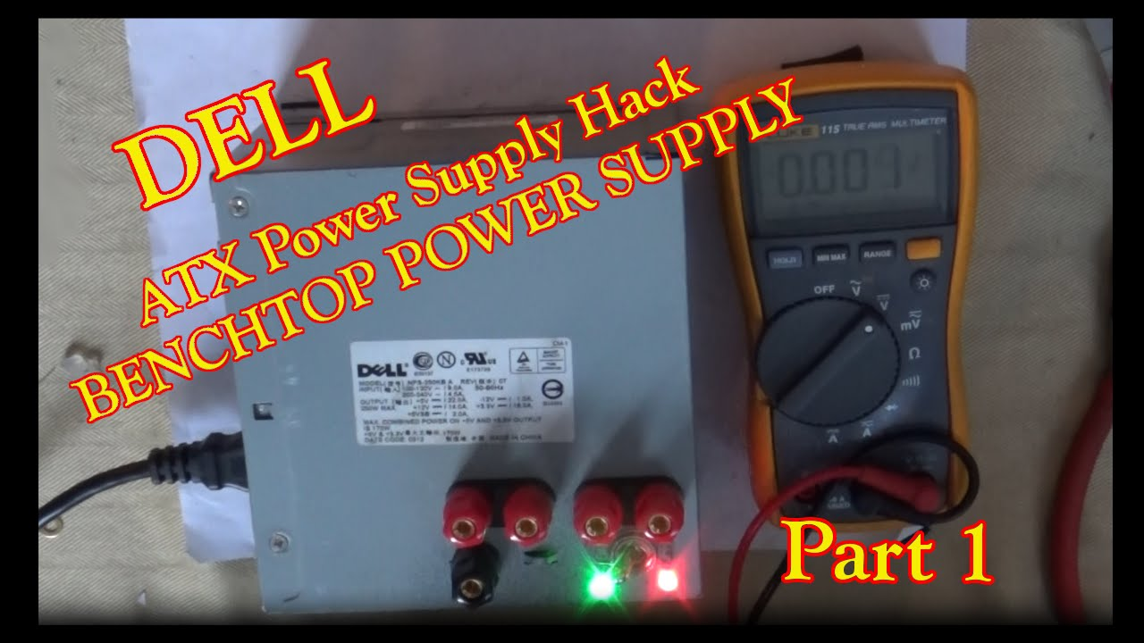 maxresdefault dell atx power supply hack! benchtop power supply! part1 youtube  at gsmx.co