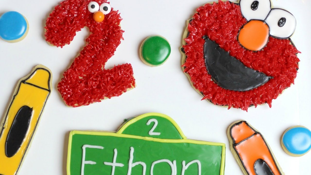 How To Make Elmo Cookies Youtube