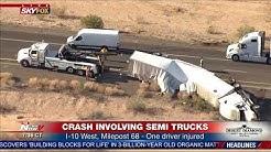 BREAKING: Crash involving semis impacts traffic on I-10 westbound near Tonopah, AZ (FNN)
