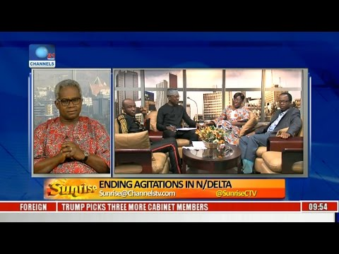 Sunrise: How FG Can End Agitations In The Niger Delta,Analysts Discuss Pt 1