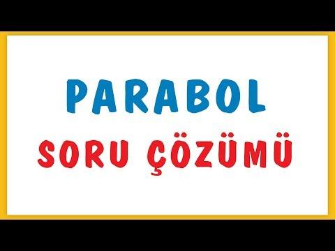 Parabol Soru çözüm Şenol Hoca Matematik