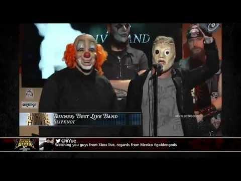 Golden Gods Awards 2013. Best Live Band: Slipknot