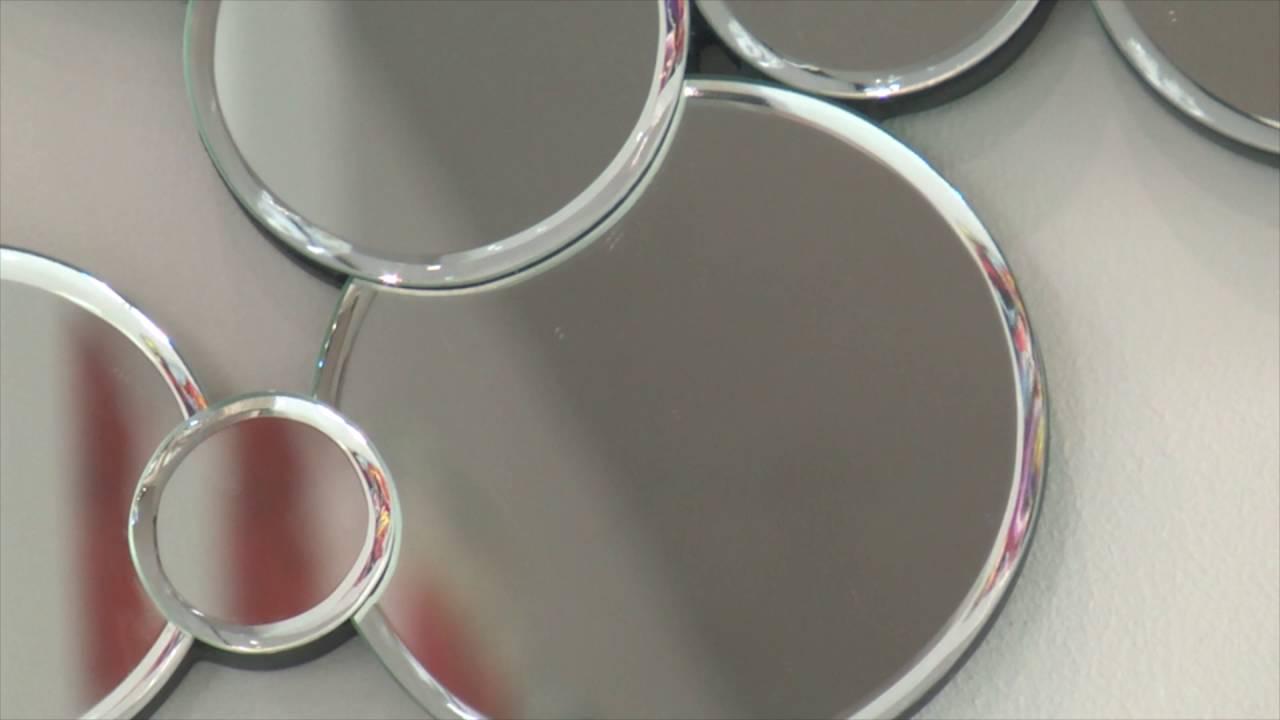 Okrągłe Lustro Dekoracyjne W Ramie Lustrzanej Gabi