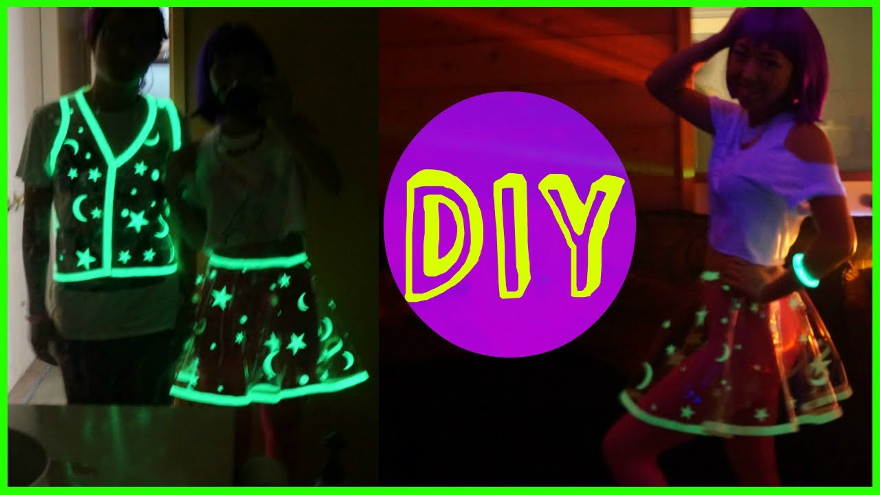Diy Glowing Vinyl Skirt Costume Youtube