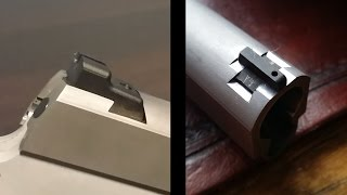 1911 build 2 9mm part 6 novak sight cuts by hand