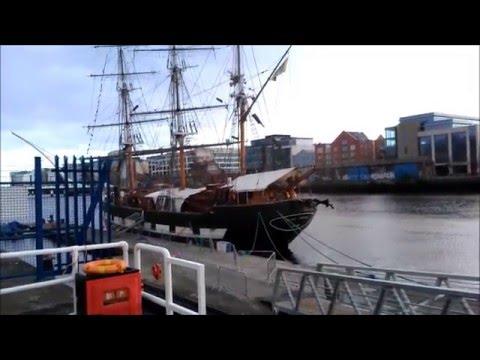 Jeanie Johnston Irish Potato Famine Ship in Dublin Ireland