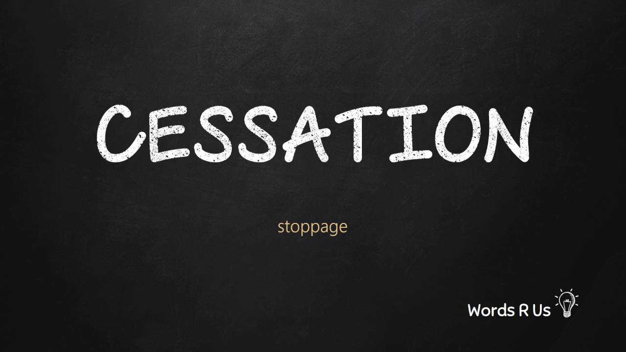 How to Pronounce CESSATION in American English