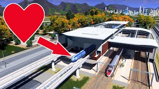 Super Monorail Hub Addition to aid Traffic in TeaVille - Cities Skylines