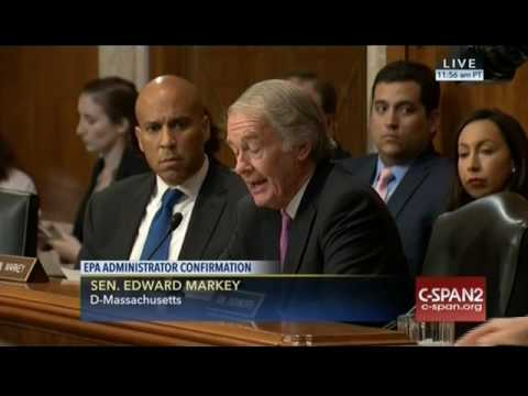 Sen. Markey Questions EPA Nominee Scott Pruitt on States Rights, Fuel Efficiency Standards- 1/18/17