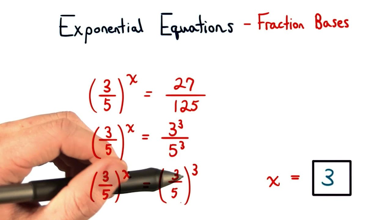 worksheet Exponential Fractions exponential equations fractions for bases visualizing algebra algebra