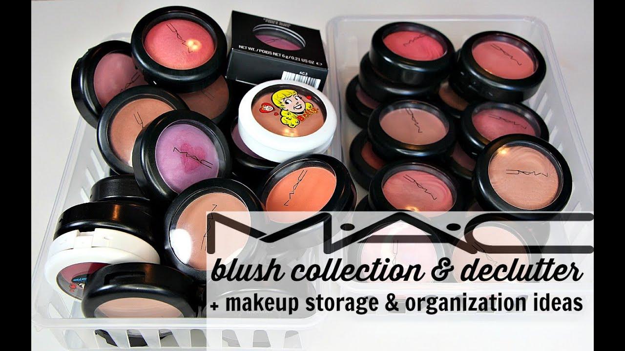 MAC Blush Collection w/ Swatches + Declutter + Makeup Storage u0026 Organization Ideas - YouTube & MAC Blush Collection w/ Swatches + Declutter + Makeup Storage ...
