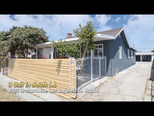 [Virtual Tour] 8722 Orchard Ave, Los Angeles, CA 90044 (3 UNIT)