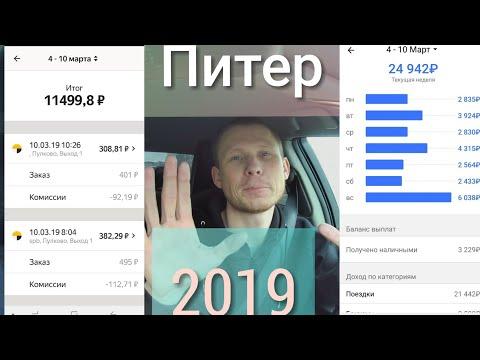 Недельный заработок в Питере, Яндекс такси +Гет такси, 2019, #ЧестныЙ