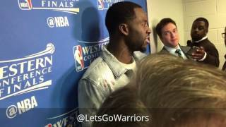 DRAYMOND: JaVale, one guy score we all score, Durant Q3, Klay, Cavs; Warriors (3-0) postgame SAS G3