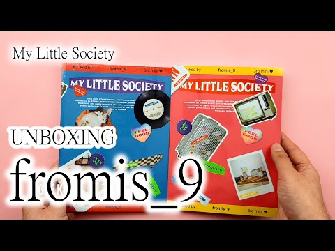 Unboxing 프로미스나인 fromis_9 - My Little Society mini Aibum Vol.3 (My account ver.) (first press)