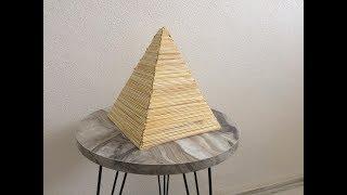 Maket çubuklar ile piramit yapımı