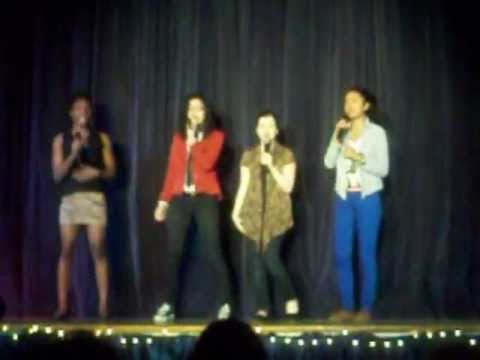 HAILI AT  TALENT SHOW singing in group Maroon 5 Pay Phone