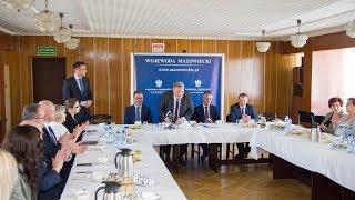 Śniadanie prasowe z  wicewojewodą Mazowsza Sylwestrem Dąbrowskim