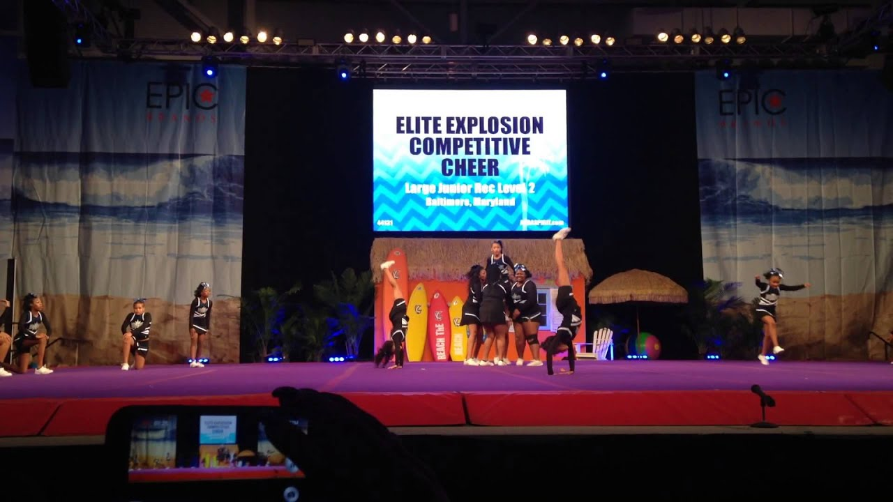 Elite Explosion Compeive Cheer Reach The Beach Ocean City 2017
