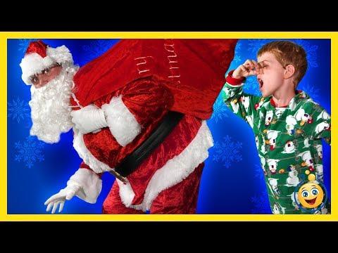SANTA CLAUS CHRISTMAS STORY! Santa Brings Presents & Toys, LB Pranks Aaron Fun Holiday Toy Kid Video