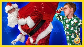Bad Santa Claus Christmas Parody Santa Brings Presents & Toys, LB Pranks Aaron Holiday Toy Kid Video