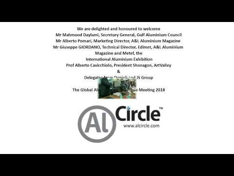 Video Recording of Alcircle Organised Global Aluminium Round