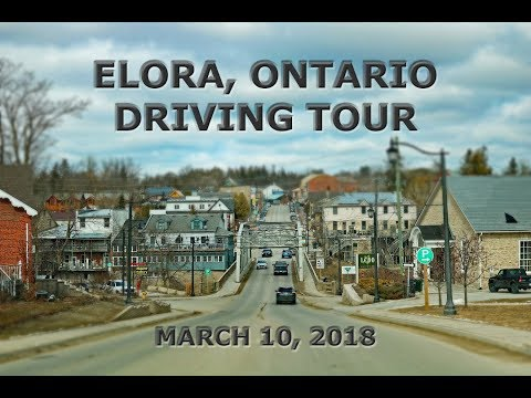 Elora, Ontario: Driving Tour (March 10, 2018)