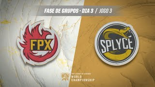Mundial 2019: Fase de Grupos - Dia 3 | FunPlus Phoenix x Splyce (Jogo 3)