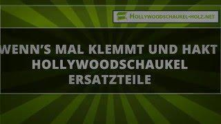 Wenn's mal klemmt und hakt – Hollywoodschaukel Ersatzteile