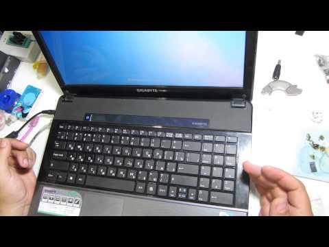 Ремонт ноутбука Gigabyte Q2532C интересный случай выключался звук ремонт ноутбуков в Луганске