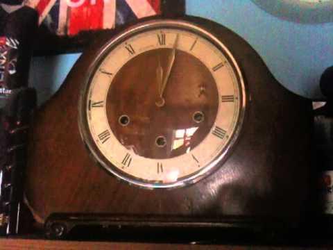Alexander Clark Company Ltd. Westminster Chiming Mantel Clock chiming 12 midday, 29/04/2012