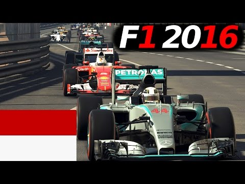 FORMEL 1 2016 MOD mit dem GP2-Engine in Monaco, Monte Carlo GP German Gameplay [Fanatec CSW]