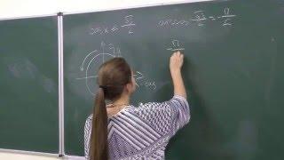 Решение элементарного тригонометрического неравенства с косинусом.