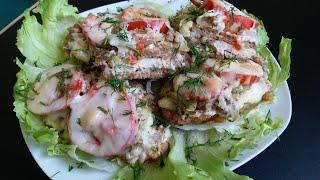 блюдо на праздник  Мясо по французски  French meat