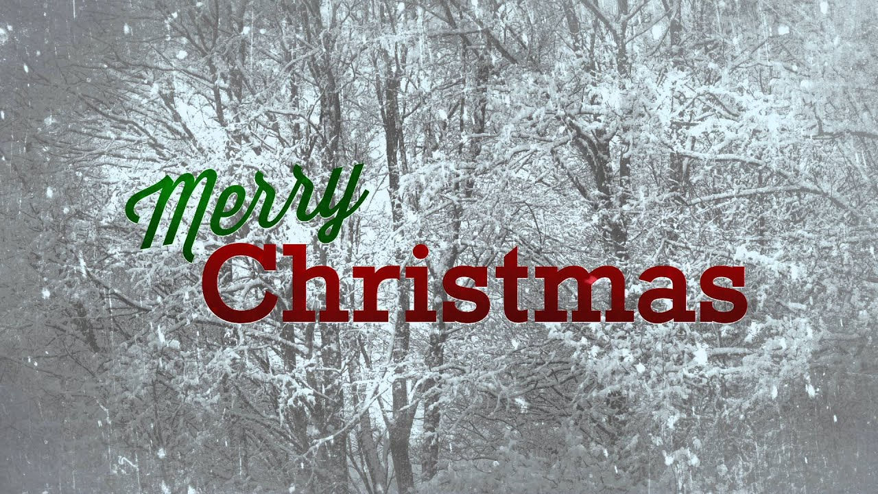 Merry Christmas with Snow - HD Background Loop - YouTube