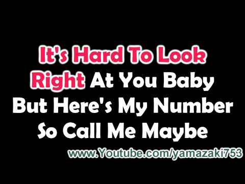 Carly Rae Jepsen - Call Me Maybe - Karaoke