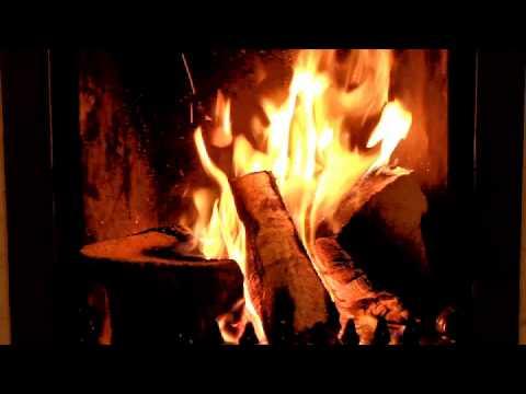 Romantic Irish Fireplace Burning Crackling Logs Relaxing Date Night HD Video