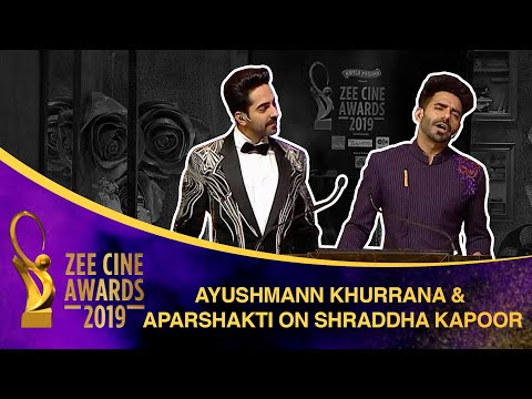 Ayushmann and Aparshakti | Brothers troll Shraddha Kapoor | Zee Cine Awards 2019