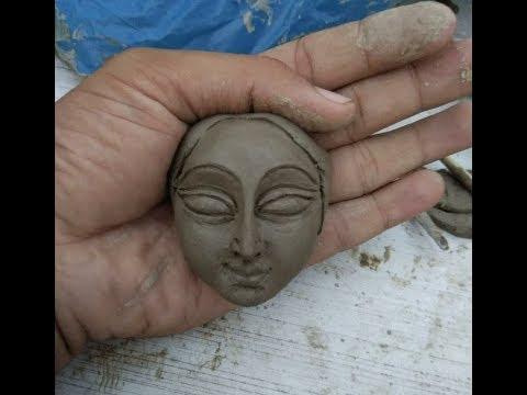 How make a clay face.